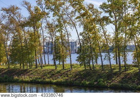 Uglich Hydroelectric Power Station On The Volga River. Yaroslavl Region, Russia