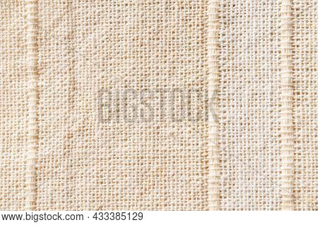 The Brown Burlap Sack Background And Texture.