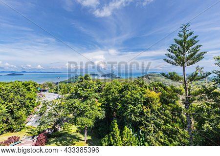 View Of Phuket Beach On Khao Rang View Point. At Phuket, Thailand