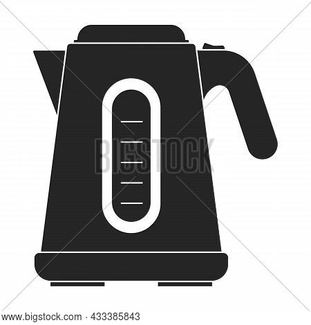 Electric Kettle Vector Icon.black Vector Icon Isolated On White Background Electric Kettle.