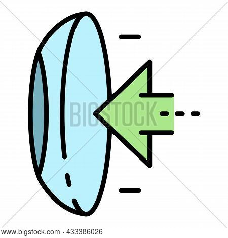 Put Contact Lens Icon. Outline Put Contact Lens Vector Icon Color Flat Isolated