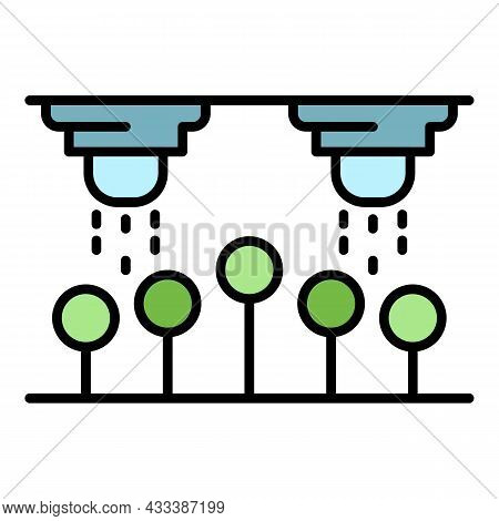 Drop Water Irrigation Icon. Outline Drop Water Irrigation Vector Icon Color Flat Isolated