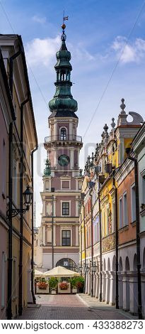 Ormianska Street And The Town Hall In The Old Town Of Historic Zamosc