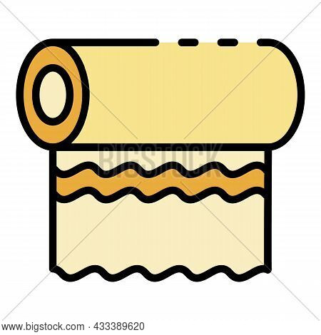 Roll Napkins Icon. Outline Roll Napkins Vector Icon Color Flat Isolated