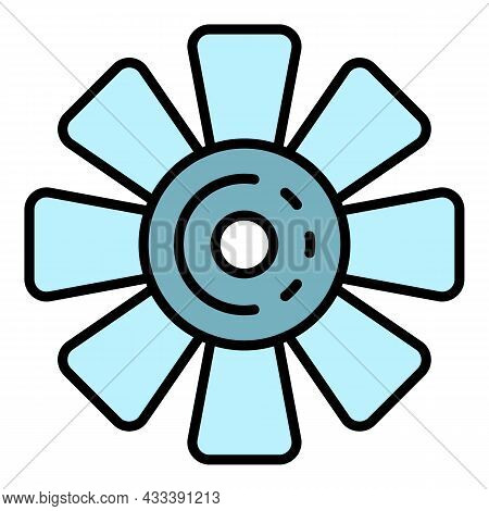 Car Fan Icon. Outline Car Fan Vector Icon Color Flat Isolated