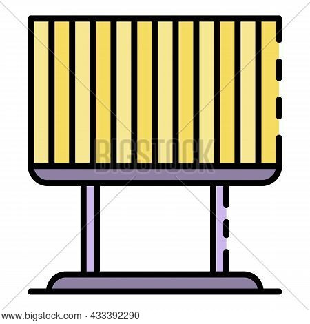 Billboard Jalousie Icon. Outline Billboard Jalousie Vector Icon Color Flat Isolated