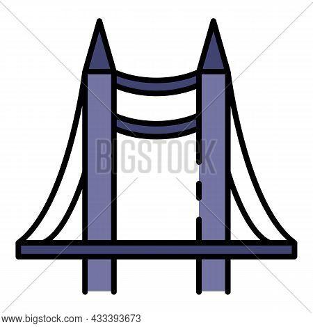 Desk Bridge Project Icon. Outline Desk Bridge Project Vector Icon Color Flat Isolated