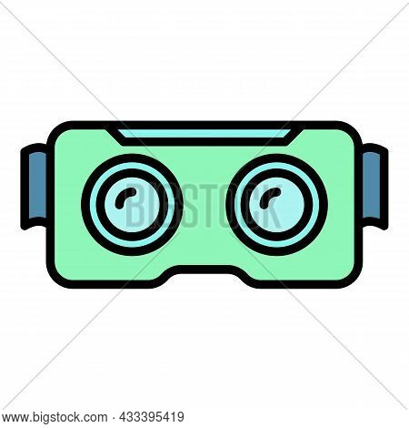 Cyber Game Goggles Icon. Outline Cyber Game Goggles Vector Icon Color Flat Isolated