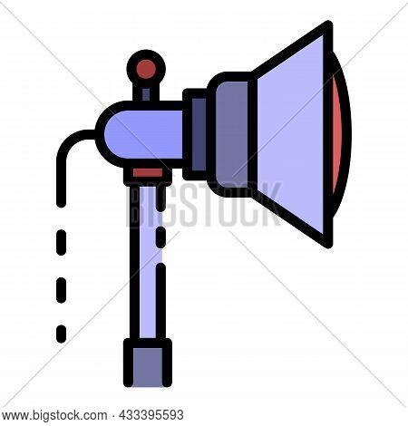Spot Light Icon. Outline Spot Light Vector Icon Color Flat Isolated