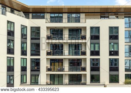 New Apartments Condo Building Residential Block In City
