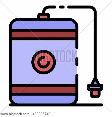 External Hard Disk Icon. Outline External Hard Disk Vector Icon Color Flat Isolated