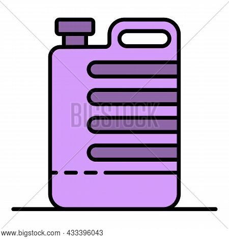 Cleaner Canister Icon. Outline Cleaner Canister Vector Icon Color Flat Isolated