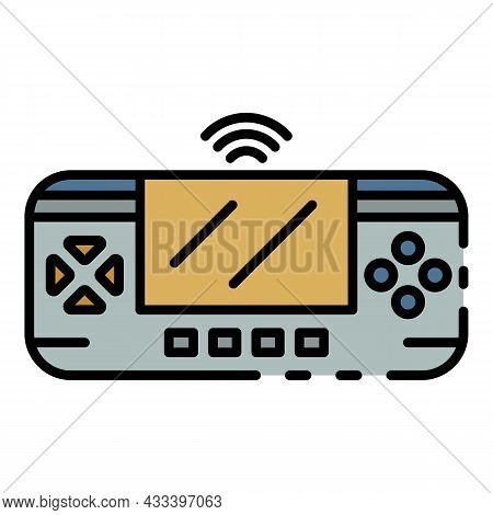 Game Control Gadget Icon. Outline Game Control Gadget Vector Icon Color Flat Isolated