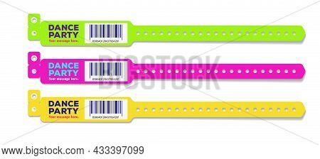Bracelet Dance Party Event Access Different Color For Id Fan Zone Or Vip, Party Entrance, Concert Ba