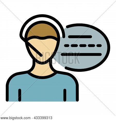 City Call Center Icon. Outline City Call Center Vector Icon Color Flat Isolated