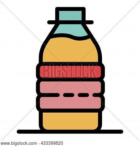 Milk Protein Bottle Icon. Outline Milk Protein Bottle Vector Icon Color Flat Isolated