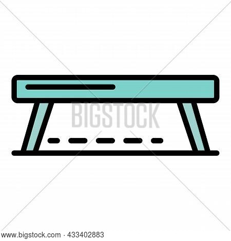Balance Beam Icon. Outline Balance Beam Vector Icon Color Flat Isolated