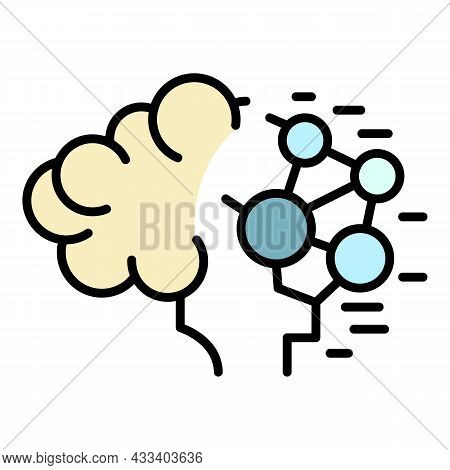 Artificial Intelligence Icon. Outline Artificial Intelligence Vector Icon Color Flat Isolated