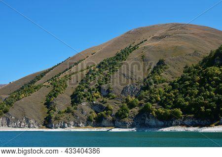 High-altitude Lake Kezenoy Am. Chechnya. Russia