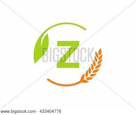 Agriculture Logo On Z Letter Concept. Agriculture And Farming Logo Design. Agribusiness, Eco-farm An