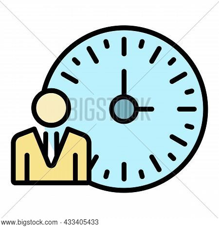 Time To Recruitment Icon. Outline Time To Recruitment Vector Icon Color Flat Isolated