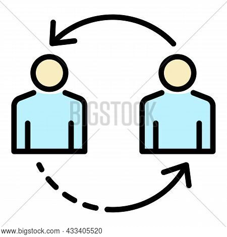 Change Personal Recruitment Icon. Outline Change Personal Recruitment Vector Icon Color Flat Isolate