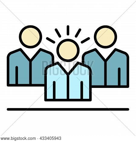 Corporate Business People Icon. Outline Corporate Business People Vector Icon Color Flat Isolated