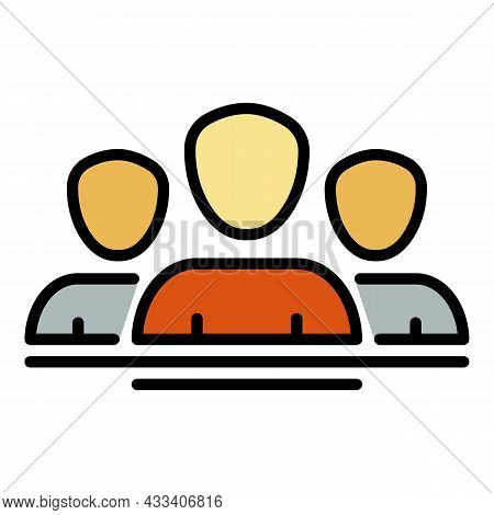 Community Of Donors Icon. Outline Community Of Donors Vector Icon Color Flat Isolated