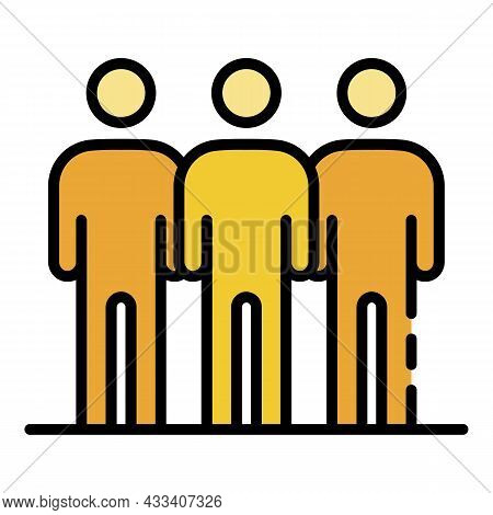 People Volunteering Icon. Outline People Volunteering Vector Icon Color Flat Isolated