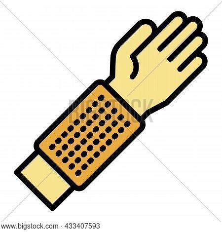Anti Mite Glove Icon. Outline Anti Mite Glove Vector Icon Color Flat Isolated