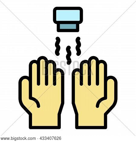 Dry Hands Icon. Outline Dry Hands Vector Icon Color Flat Isolated