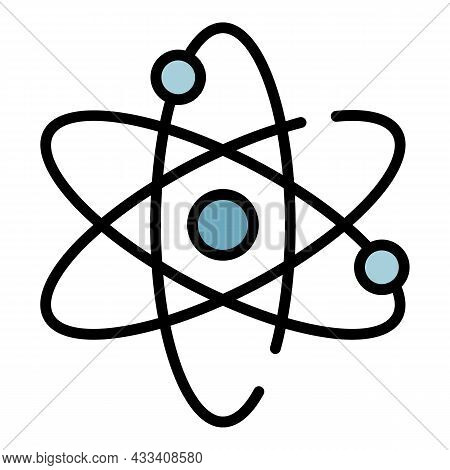 Electron Motion Icon. Outline Electron Motion Vector Icon Color Flat Isolated