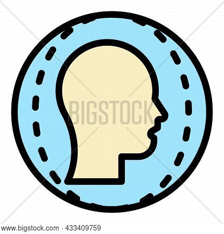 Face Identification Icon. Outline Face Identification Vector Icon Color Flat Isolated