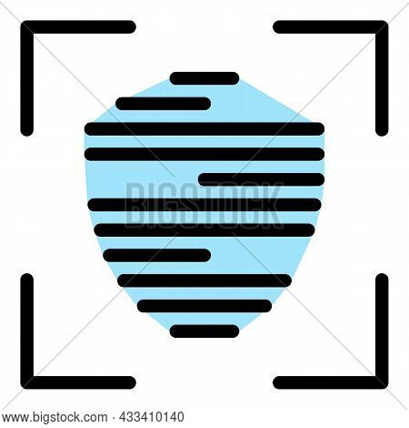 Identification Frame Icon. Outline Identification Frame Vector Icon Color Flat Isolated