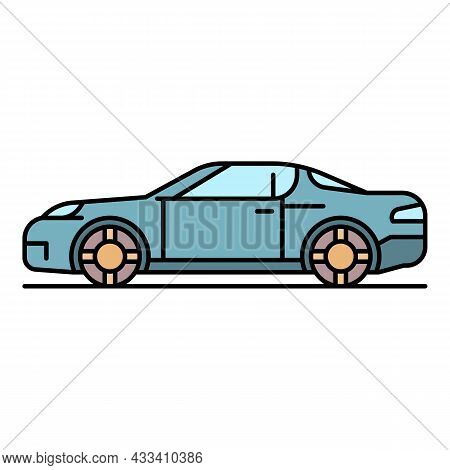 Sport Cabriolet Icon. Outline Sport Cabriolet Vector Icon Color Flat Isolated