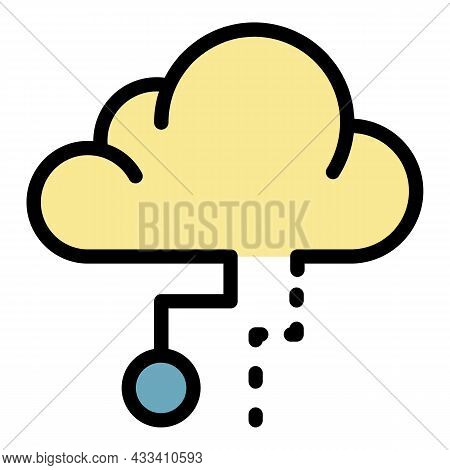 5g Cloud Technology Icon. Outline 5g Cloud Technology Vector Icon Color Flat Isolated