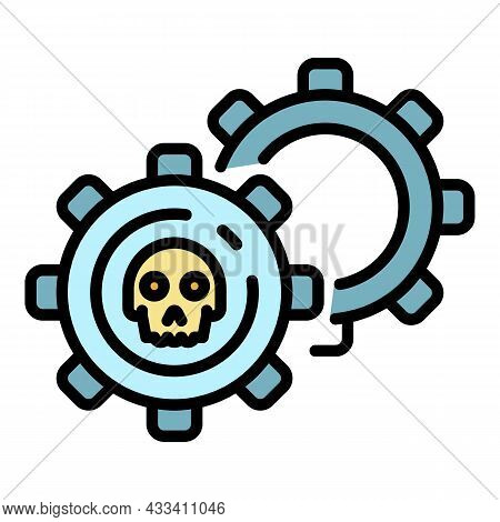 Malicious Mechanism Icon. Outline Malicious Mechanism Vector Icon Color Flat Isolated