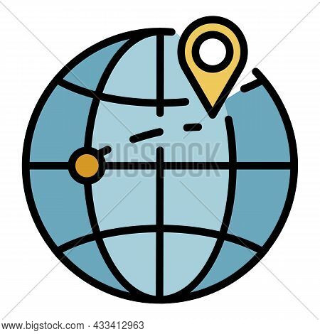 Destination Of Export Goods Icon. Outline Destination Of Export Goods Vector Icon Color Flat Isolate