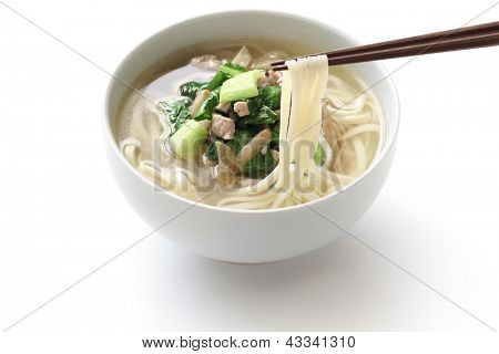 zha cai rou si mian, chinese noodle dish, noodle with shredded pickled mustard stem and pork
