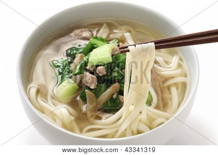 zha cai rou si mian, chinese noodle dish, noodle with shredded pickled mustard stem and pork poster