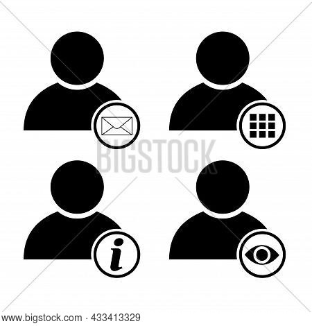 Set Of User Avatar Icon, Collection Of Social Person Symbol, Business Vector Illustration, Web Membe