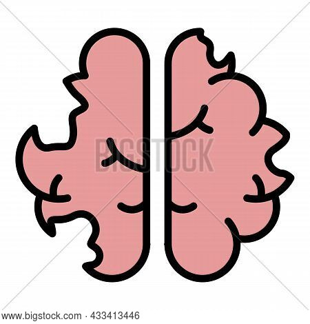Disease Brain Icon. Outline Disease Brain Vector Icon Color Flat Isolated