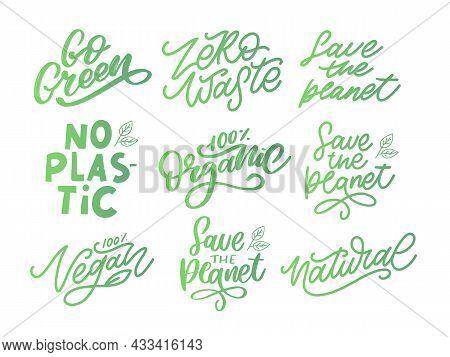 Vector Set Illustration, Food Design. Handwritten Lettering For Restaurant, Cafe Menu. Vector Elemen
