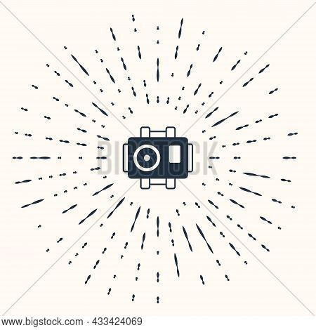 Grey Photo Camera For Diver Icon Isolated On Beige Background. Foto Camera Icon. Diving Underwater E
