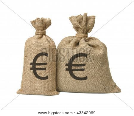Bag From A Sacking With Euro.