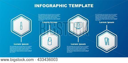 Set Line Nail File, Manicure, Manicure And Cutter. Business Infographic Template. Vector