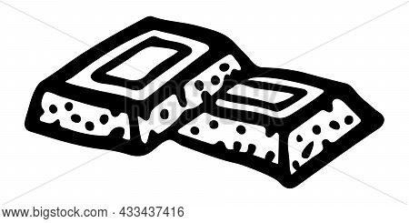 Isolated Vector Element. Chocolate. The Print Is Used For Packaging Design, Fabric. Sweets