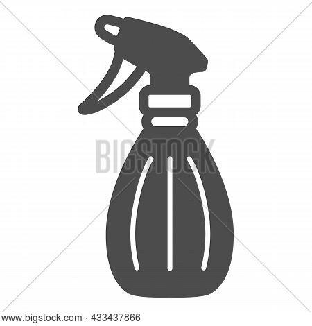 Spray Bottle, Pulverizer Solid Icon, Gardening Concept, Atomizer Vector Sign On White Background, Gl