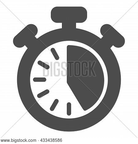 Stopwatch With Buttons, 25 Seconds, Timer, Chronometer Solid Icon, Time Concept, Clock Vector Sign O