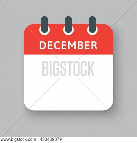 Template Icon Calendar, Month Of Year December